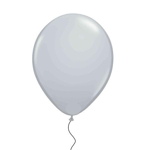 "11"" Grey Helium Balloon"