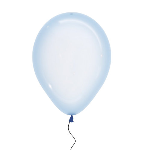 "11"" Crystal Pastel Blue Helium Balloon"