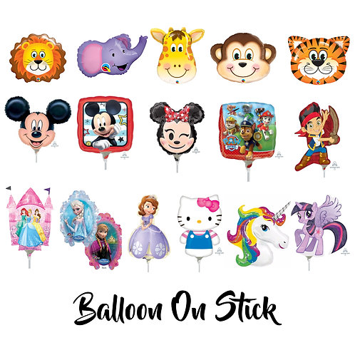 Balloon on Stick (Set of 10)
