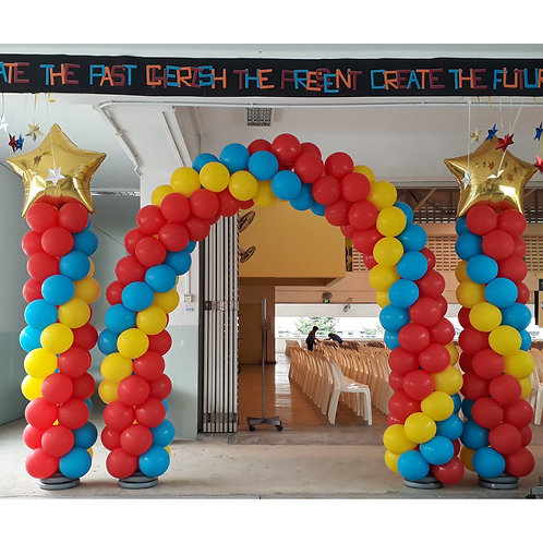Balloon Arch + Column with Topper