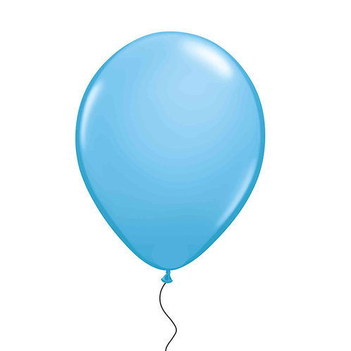 "11"" Sky Blue Helium Balloon"