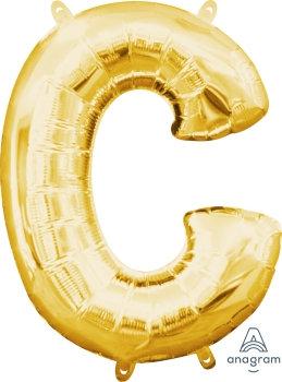 "40"" Letter ""C"" Gold Helium Balloon"