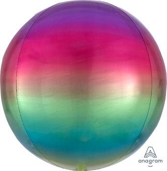 "15"" Ombre Rainbow Orbz Balloon"
