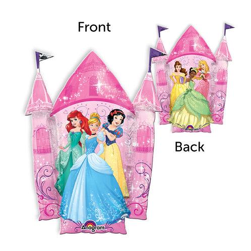 "35"" Multi Princess Castle Foil Balloon"