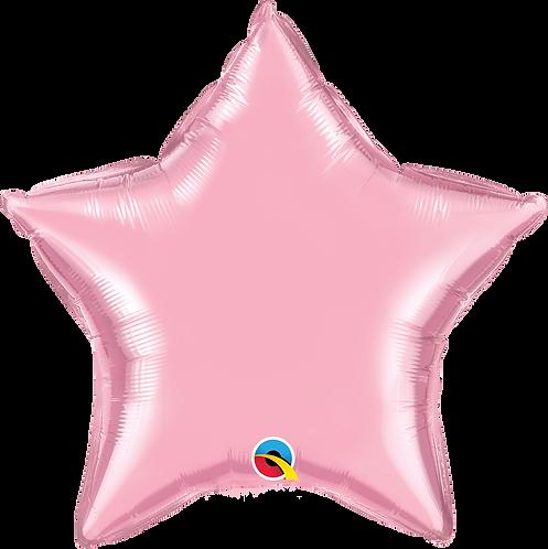 """20"""" Pearl Pink Star Foil"""