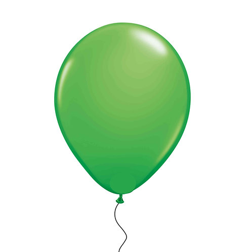 "11"" Lime Green Helium Balloon"