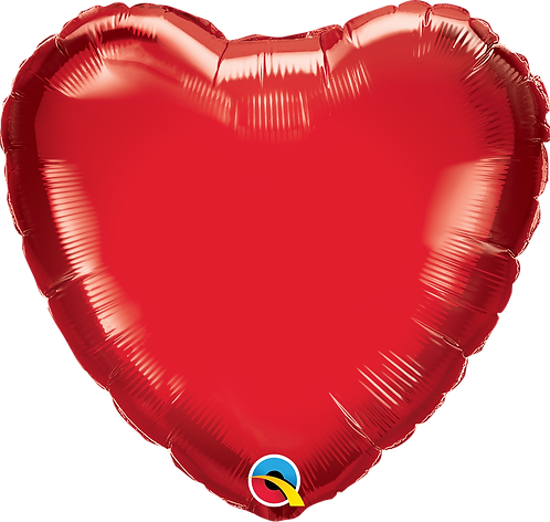 """18"""" Ruby Red Heart Foil"""