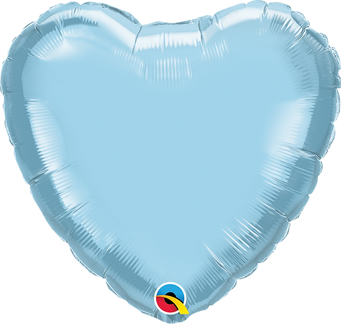 "18"" Pearl Light Blue Heart Foil"