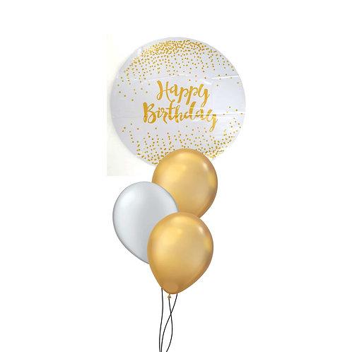 Gold Confetti Birthday Cluster