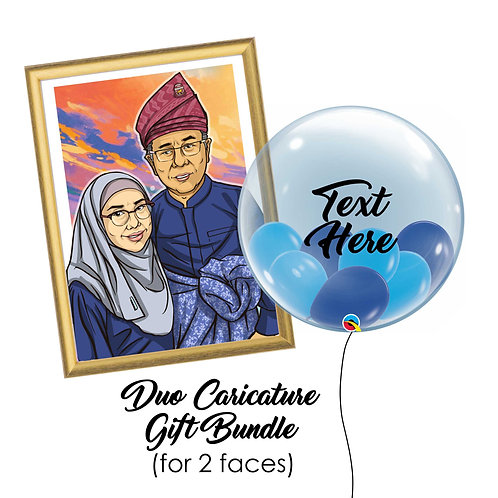 Duo Caricature Gift Bundle