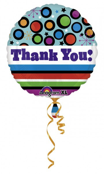 "17"" Thank You ColourBlast Foil Balloon"