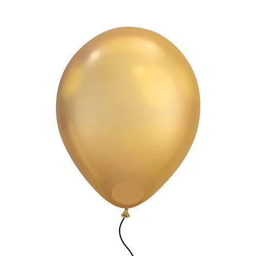"""11"""" Chrome Gold Helium Balloon"""