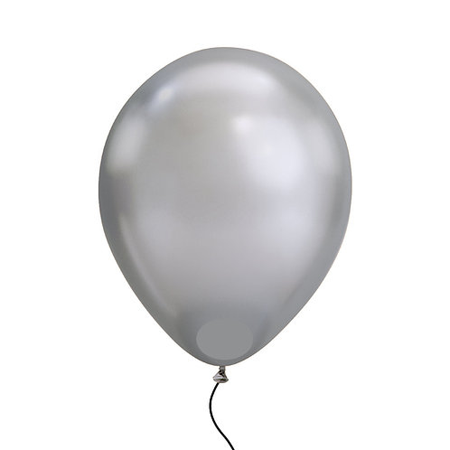 "11"" Chrome Silver Helium Balloon"
