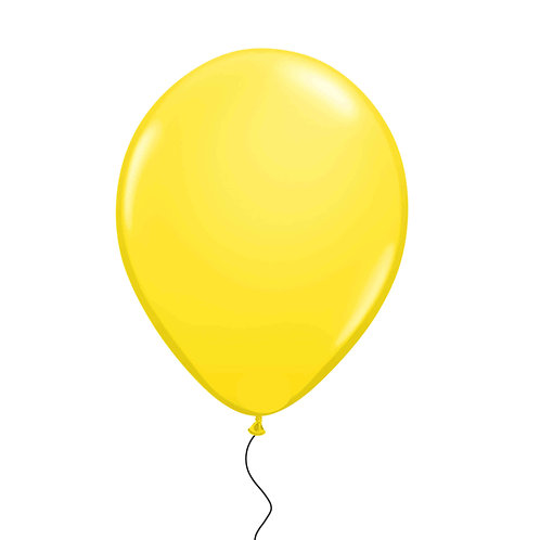 "11"" Yellow Helium Balloon"