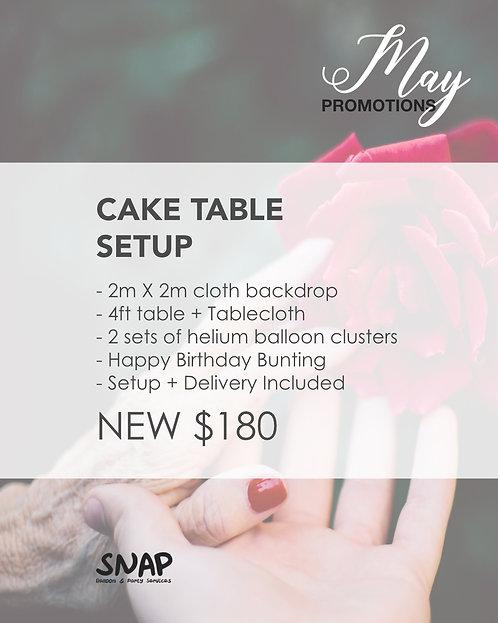 Cake Table Setup