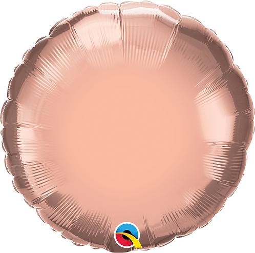 "18"" Rose Gold Round Foil"