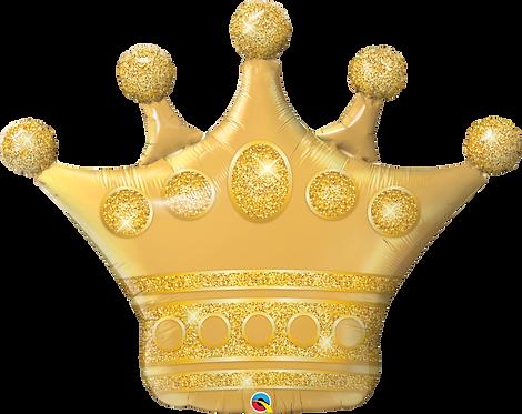 """41"""" Golden Crown Foil Balloon"""