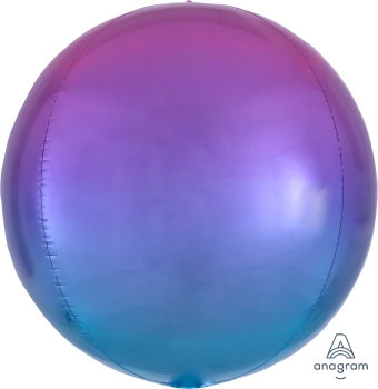 """15"""" Ombre Pink and Blue Orbz Balloon"""