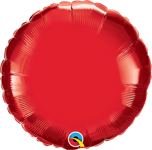 "18"" Ruby Red Round Foil"