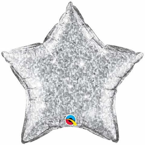 "20"" Holographic Silver Star Foil"