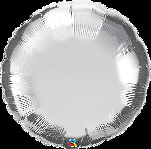 "36"" Silver Round Helium Balloon"