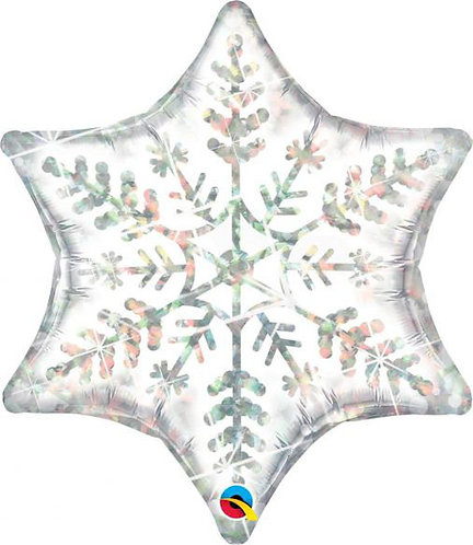 "22"" Holographic Snowflake Foil Balloon"