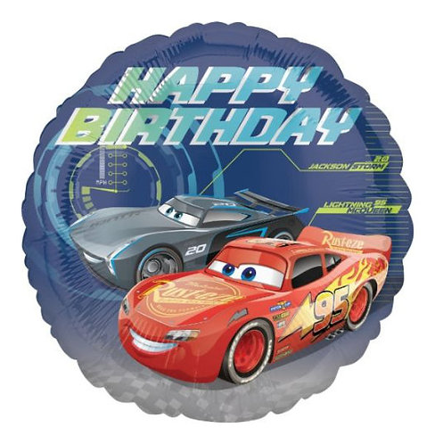 "18"" Cars Happy Birthday Foil"