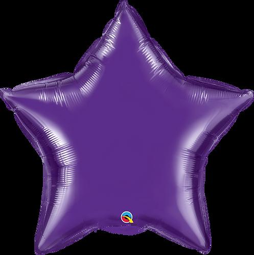 "36"" Quartz Purple Star Helium Balloon"