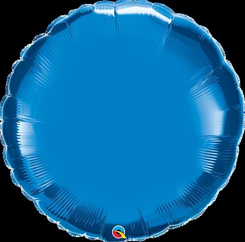 """36"""" Sapphire Blue Round Helium Balloon"""