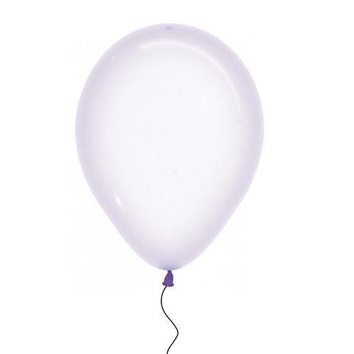 "11"" Crystal Pastel Lilac Helium Balloon"