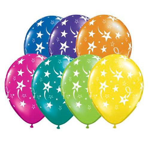 "11"" Shooting Stars & Stars-A-Round Helium Balloon"