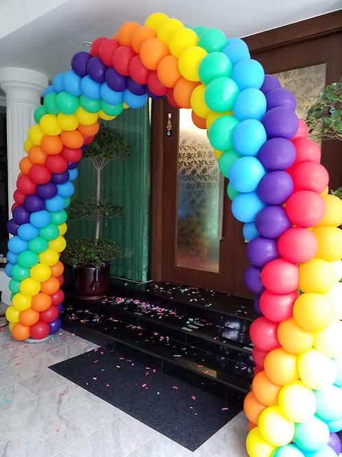 Rainbow Balloon Arc