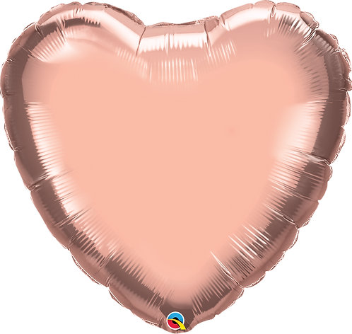 "36"" Rose Gold Heart Helium Balloon"