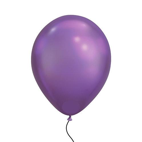 "11"" Chrome Purple Helium Balloon"