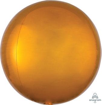 """15"""" Gold Orbz Balloon"""