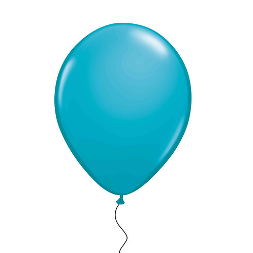 "11"" Teal Helium Balloon"