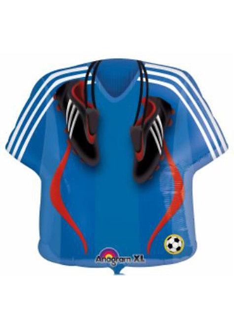 """22"""" Blue Football Jersey Foil Balloon"""