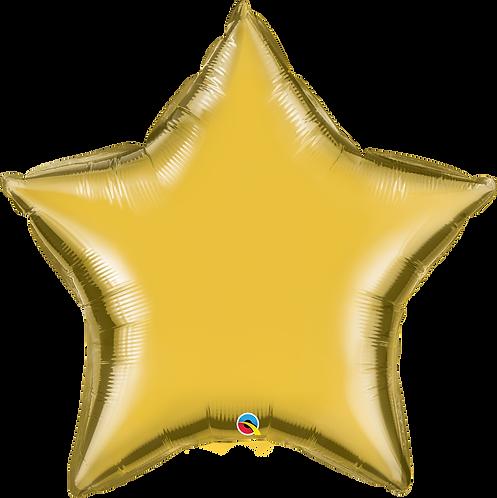 """36"""" Metallic Gold Star Helium Balloon"""