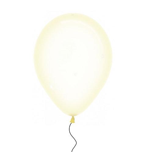 "11"" Crystal Pastel Yellow Helium Balloon"