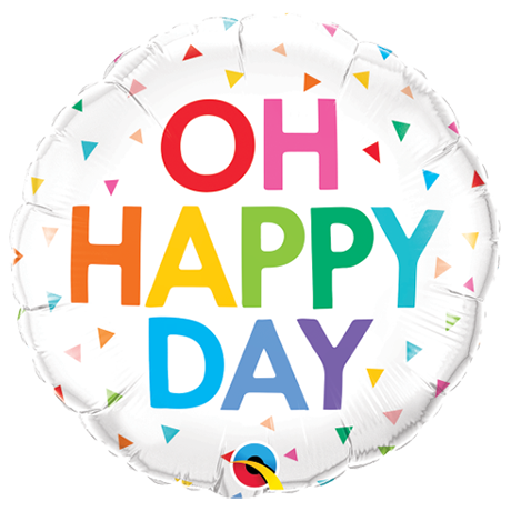 "18"" Oh Happy Day Foil Balloon"
