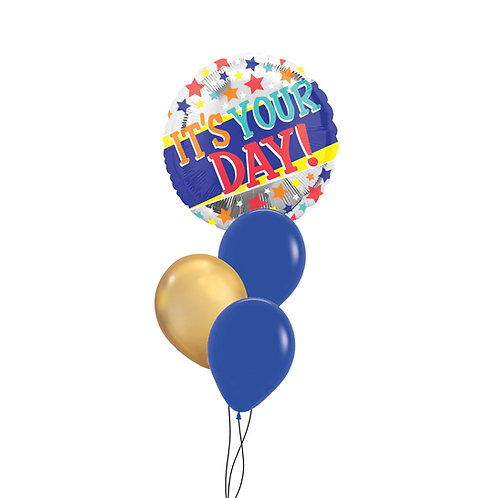 "17"" Hip Hip Hooray! It's Your Day! Foil Balloon"