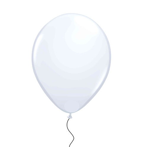 "11"" Clear Transparent Helium Balloon"