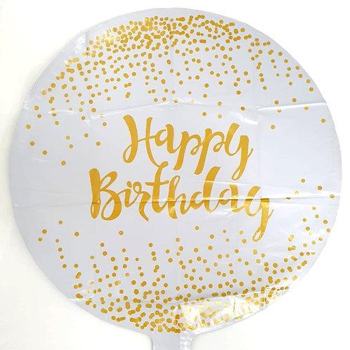 """18"""" Gold Confetti Birthday Foil"""