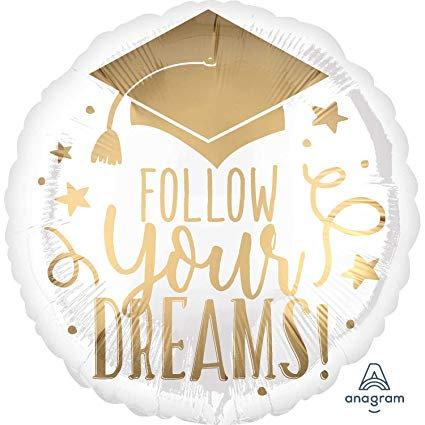 """18"""" Follow Your Dreams! Foil Balloon"""