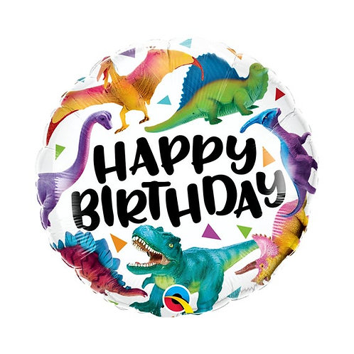 "18"" Happy Birthday Dinosaur Foil"