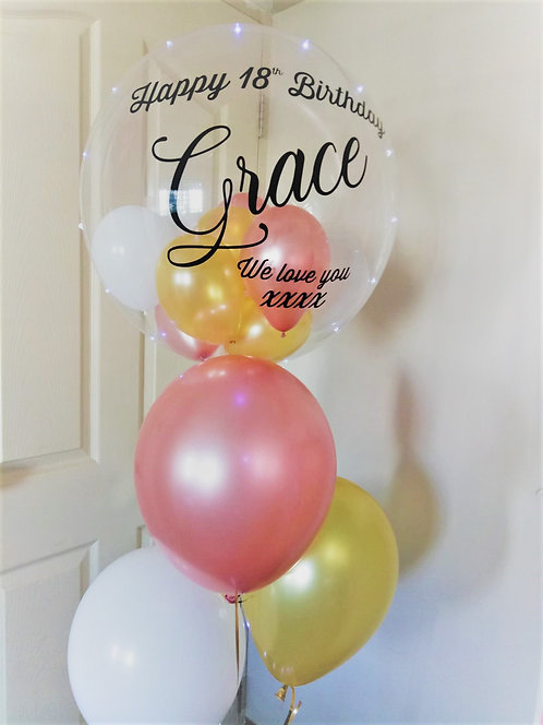 Personalised Clear Bubble Cluster