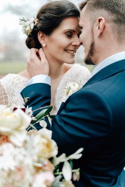 inspired by winter wedding Paar