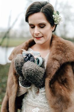 Braut Winterhochzeit