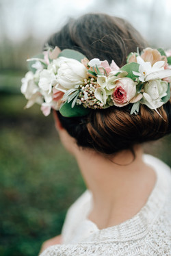 inspired by winter bridal hair