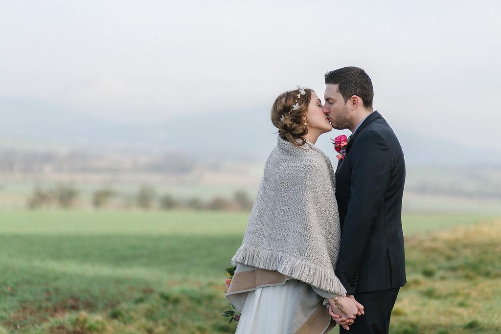 Paarsrood Boho Hochzeit